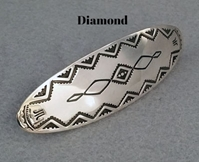 Sterling silver oval barrettes by The Silver Mesa.