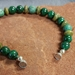 Malachite, Turquoise and Serpentine Magnet Bracelet - BRM748V