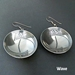 Sterling silver Mimbres earrings, bowl style, Wave design.