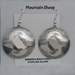 Sterling silver Mimbres Earrings, 1 1/2 inch size, dome style, wires-Mountain sheep design