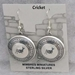 Sterling silver Mimbres Earrings, 1 inch size, dome style, wires-Cricket design