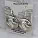 Sterling silver Mimbres Earrings, 1 inch size, dome style, wires-Mountain Sheep design