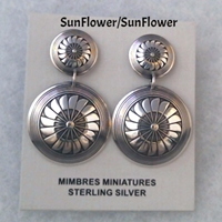 Earring-2 piece Post earrings, Mimbres, sterling, silver, post, dangle, wholesale