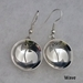 Sterling silver Mimbres Earrings, bowl style, with wires.
