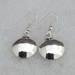 Back view of Mimbres bowl style sterling silver earrings.