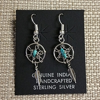Earrings-Dream Catcher, small