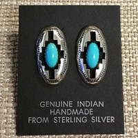 Earrings-Turquoise Shadowbox