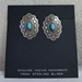 Earrings with Turquoise, post or clip-on - ER310TQ