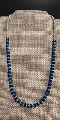 Lapis and Turquoise Heishi Necklace