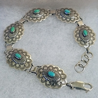 Link Bracelet with Turquoise
