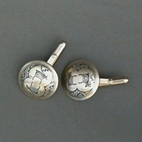 "Cufflinks-3/4"" size cufflinks, accessories, , sterling, silver, Mimbres, American, USA, wholesale"