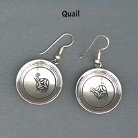 "Earring-1"" dish earrings, sterling, silver, wholesale, Mimbres, MadeInUSA"