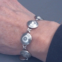 Sterling silver Mimbres Link Bracelet, 1/2 inch size pieces