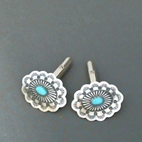 Navajo Concha Cufflinks with Turquoise