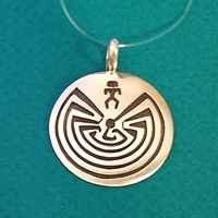 Pendant #115PD-MM wholesale, pendants, sterling, silver, native, american, maize