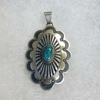 Pendant with Turquoise, medium
