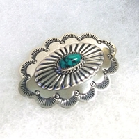 Concha Pin with Turquoise