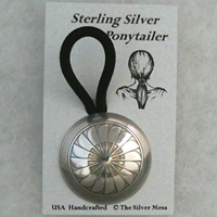 "Ponytailer-1 1/2"" size hair, accessories, ponytail, sterling, silver, Mimbres, American, USA, wholesale"