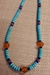 Turquoise and Carnelian Necklace - NL80T6