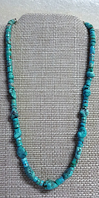 Turquoise Nugget and Heishi Necklace