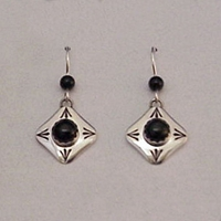 Earrings-Onyx Dangle