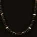 Onyx Bead Necklace and Pendant - 966NL