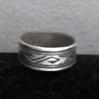 Hopi Bird Band Ring-wide