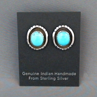 Earrings-Turquoise turquoise, sterling, silver, earrings, post