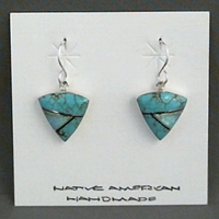 Earrings-Turquoise Inlay