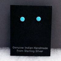 Earrings-Turquoise Dots