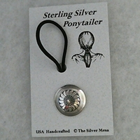 "Ponytailer-3/4"" size wholesale, sterling, silver, hair, ponytail, accessories, native, american,"