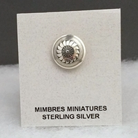 Sterling silver Mimbres tie tack, 5/8 inch size.