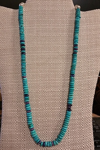 Turquoise and Sugilite Necklace